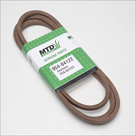 amazon com : mtd 954-04122 46-inch deck drive belt for riding mower/tractors,  1/2-inch by 90 1/4-inch : lawn mower belts : garden & outdoor