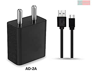Samsung Galaxy K-Zoom Compatible Wall Charger With 1.2 M Flat Usb Cable - ( 2 Ampere genuine Output)