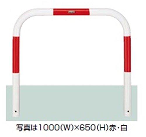 リクシル TOEX スペースガード(車止め) U60型 1500mm×650mm 固定式 スチール 赤白色 『リクシル』 赤白色 B075RZ8SGL 14650