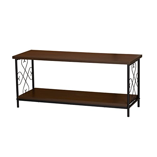 Household Essentials 8043-1 Victorian Wooden Coffee Table with Storage Shelf