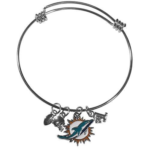 (Siskiyou NFL Miami Dolphins Charm Bangle Bracelet)
