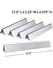 SHINESTAR 7620-17.5 Inch Flavorizer Bars Replacement for Weber Genesis 300 Series, Genesis E-310 E-320 E-330, S-310 S-320 S-330 with Front Control Knobs, Set of 5 Stainless Steel Flavor Bars 7621