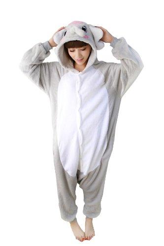 Grey Elephant Kigurumi - Adult Costumes Pajama (L Fit 5'5''- 5'9'' Height)