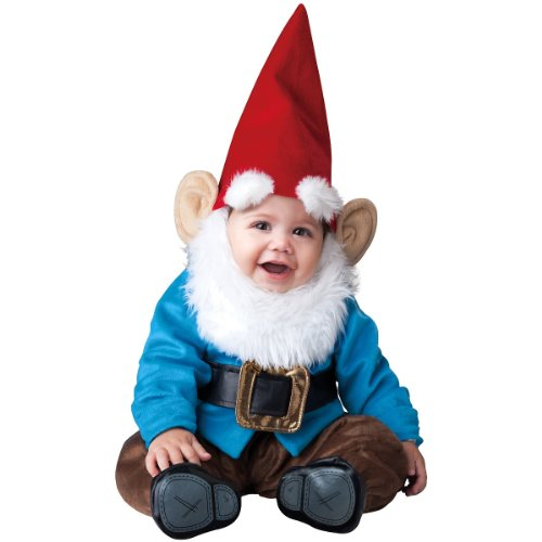 InCharacter Baby Boy's Garden Gnome Costume, Red/Blue, Small