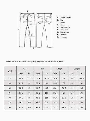 OCHENTA Men's Slim Tapered Flat Front Casual Dress Pants Black Lable 32