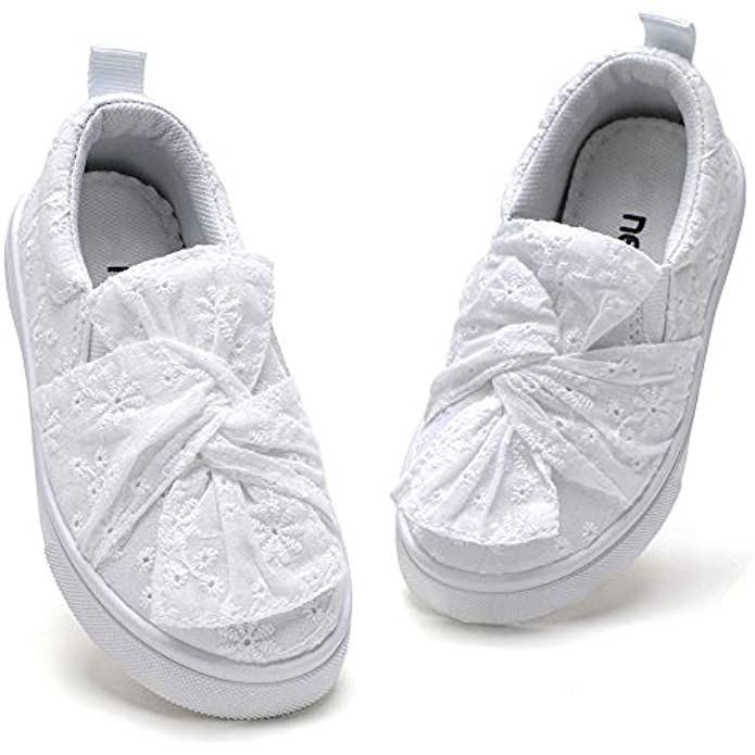 nerteo Toddler Girls Shoes Slip On Canvas Shoes for Kids Sneakers