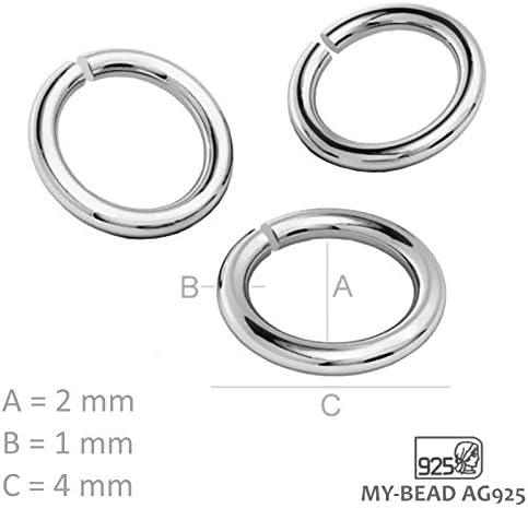 My-Bead cierres mosquet/ón doble magn/ético 30mm Plata de ley 925 im/án de bala para collar y pulsera de perlas DIY