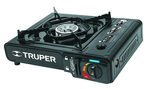 Truper ESPO-1, Estufa portátil para lata de Gas, 1/4 de vuelta, encendido electrónico
