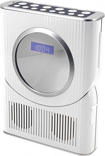Soundmaster BCD250 Bad/Küchen Stereo-Radio mit CD und Uhr, spritzwassergeschützt