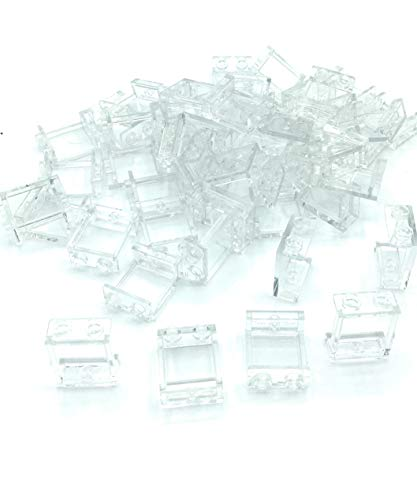 (LEGO #4864 Parts and Pieces 50 Count Transparent Clear 1x2x2 Window Panel Loose)