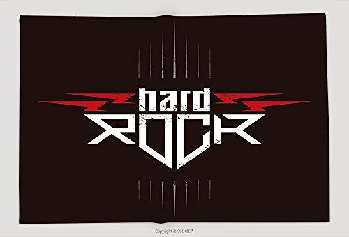 Supersoft Fleece Throw Blanket Hard Rock Badge Original Lettering With Lightnings And Grunge Effect Music Vector Illustration (Hard Rock Dc Halloween)