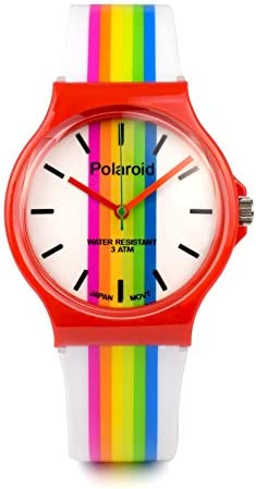 Amazon.com: Polaroid White Band Watch: Watches