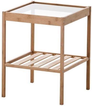 Ikea Nesna Durable Bamboo Nightstand 702.155.25