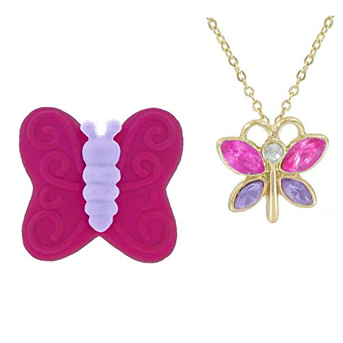 Childrens Butterfly Necklace - 1