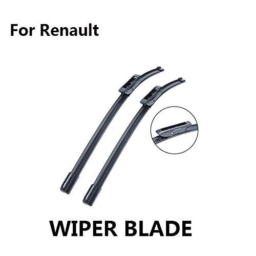 (Wipers Car Accessories Wiper Blades For Renault Megane/Scenic/Fluence/Laguna/Clio/Captur/Kangoo High Rubber Windscreen - (Item Length: Laguna III))