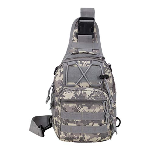Vowes Mens Backpack, Small Shoulder Bag,Lightweight School Bag, Outdoor Travel Messenger Bag, Casual Sports Camouflage Chest Bag