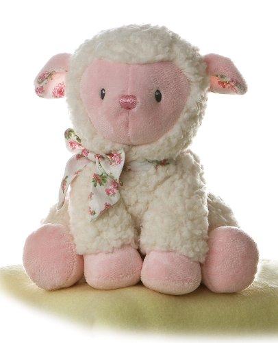 Amazon Com Aurora World Plush Pink Baby Girl Lamb Toys Games