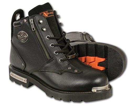 Milwaukee Leather Men's Classic Motorcycle Boots (Black, Size 10.5) -
