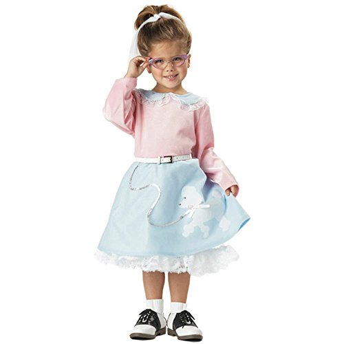 Toddler 50s Poodle Dress Halloween Costume (Toddler 1950s Halloween Costumes)