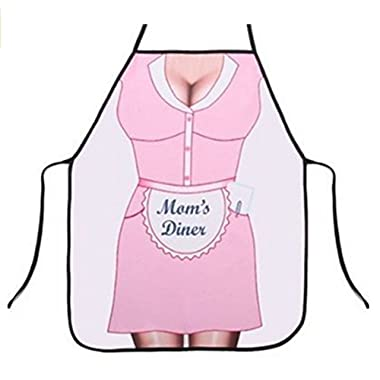OYSRONG Mon's Diner Individuality Kitchen Cooking Adult Apron for Birthday Gift