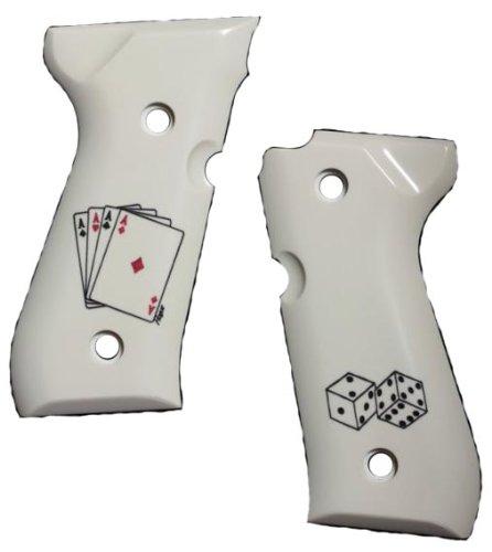 Hogue Beretta 92 Scrimshaw Ivory Polymer