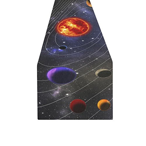 D-Story Outer Space Galaxy Solar System Planets Table Runner 16x72 inch For Dinner Parties Events Home Decor by D-Story (Image #1)