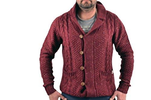 Jack And Jones Lamber Knit 12063109-burg Herren Strickjacken Bordeauxrot
