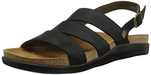 Koi Pleasant Men El Black Sandal Flat N5099 Black Naturalista qwtX5X1F