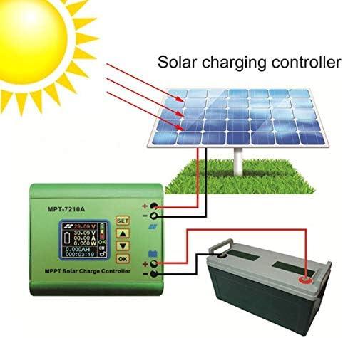 Tragbarer MPT-7210A Solarladeregler 10A LCD-Display mit Hintergrundbeleuchtung Auto MPPT Batterieladegerät