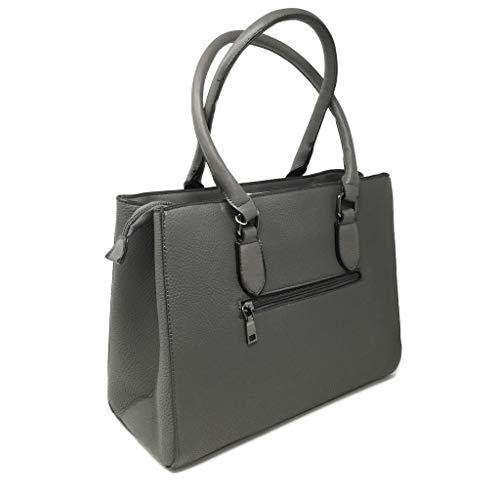 Idea Grigio Scuola Tracolla Tendenza Pelle Tote Working Cabas Moderno Bag Shopper Girl Metallico Di Regalo Donna Rigida Grana Elegante Angkorly A Casuale Bolsos Moda pgqWZ1