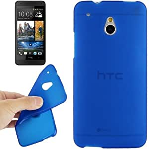 Translucent Frosted TPU Case for HTC One mini / M4 (Blue)