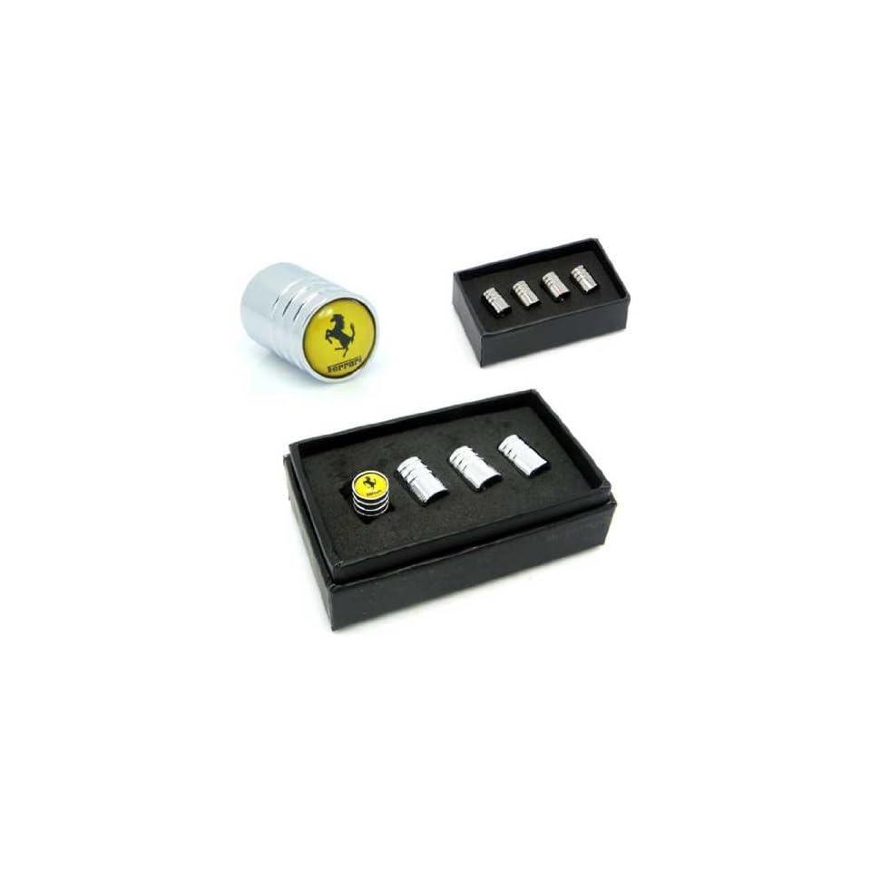 Ferrari Car Wheel Tire Valve Stem Caps(yellow)