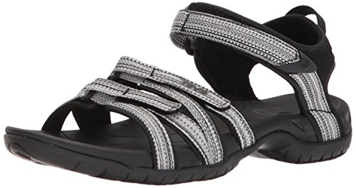 Teva Women's W Tirra Sport Sandal, Black/White Multi, 8 M US