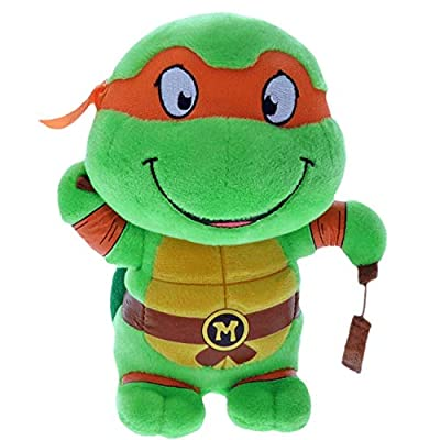 "Ty Michelangelo Teenage Mutant Ninja Turtles 10"" Medium Sized Plush: Toys & Games"