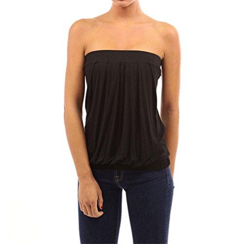Nu Sexy Epaule Femme Acvip shirt Bretelle Haut T Noir Sans Couleurs Plissé Eté Top 4 Y0dw5qd