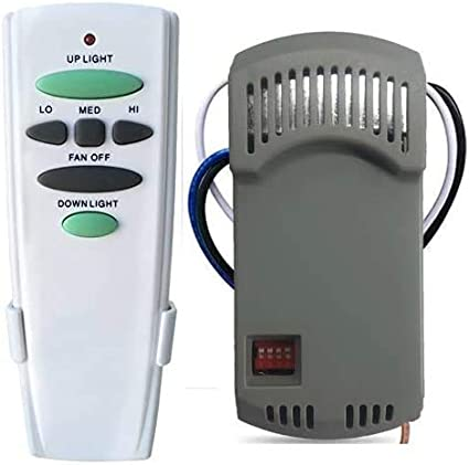 Harbor Breeze Hunter 28R Kit Universal Ceiling Fan Remote Control Dimmable Replace for Hampton Bay