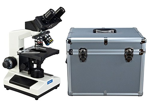 OMAX 40X-1000X Compound Binocular Microscope with Aluminum Carrying Case