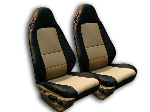 Iggee BMW Z3 (Not M Series) Black/Beige Artificial leather Custom fit Front seat cover