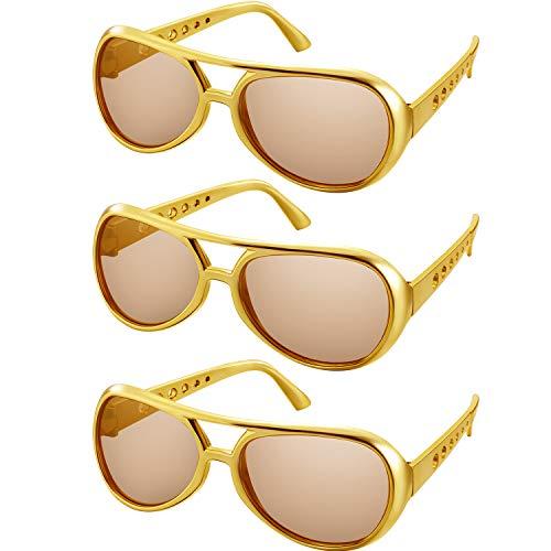 3 Pairs Rockstar Glasses Aviator Glasses 50's 60's