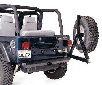 Pare impacto trasera con soporte de rueda de emergencia, Rock Crusher, Jeep Wrangler YJ y Tj: Amazon.es: Coche y moto