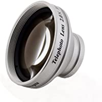 2.0x High Grade Telephoto Conversion Lens (37mm) For JVC Everio GZ-HD520 HD