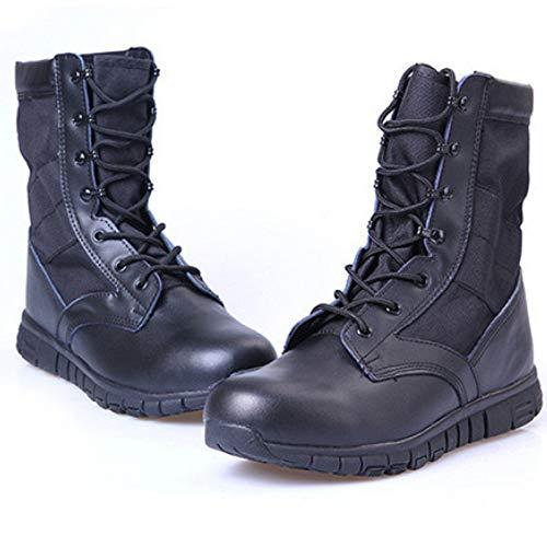 snfgoij Alto Leggero Uomini di Respirabile E Soldati Aiuto Gli Leggero Black Stivali Speciale Super Trekking Militari rxzrU4q