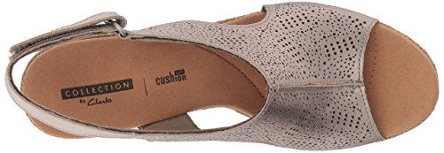 Us Rosen 5 Platform Women's Clarks Lafley Pewter 5 Metallic Medium OqSzxw0E
