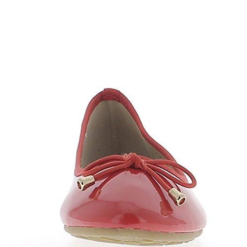 f706b22ccfb53a Ballerines classiques rouges vernies avec talonnette de 1cm et noeud assorti  on sale