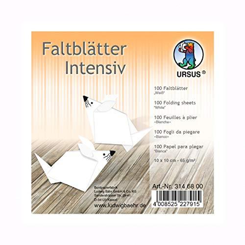 Uni Intensiv Wei/ß 15 x 15 cm 100 Blatt Origamipapier Kreativpapier