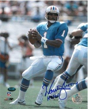 Warren Moon signed Houston Oilers 8x10 Photo HOF06 - Autographed NFL Photos