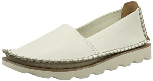 Clarks Damara Chic, Mocasines para Mujer Blanco (White Leather)