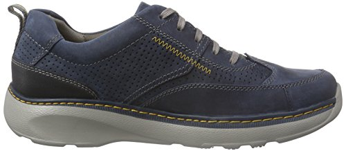 Clarks Charton Mix, Derby Uomo Blu (Navy Leather)