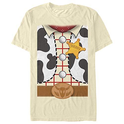 Toy Story Men's Sheriff Woody Costume Tee Cream T-Shirt