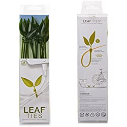Leaf Tie Cable Ties Organizer Kit by Lufdesign 12 pcs (Olive Green)